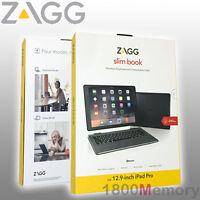 Zagg Slim Book Wireless Keyboard Bluetooth Detachable Case Apple Ipad Pro 12.9
