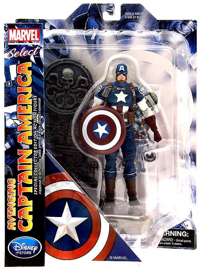 Marvel Sélectionner vengeur Captain America Exclusive Action Figure   votre satisfaction est notre cible