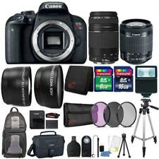 Canon EOS Rebel T7i Camera + 18-55mm Lens + 75-300mm Lens + Accessory Bundle