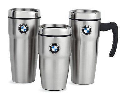 Genuine BMW Stainless Steel Roundel Travel Mugs New!