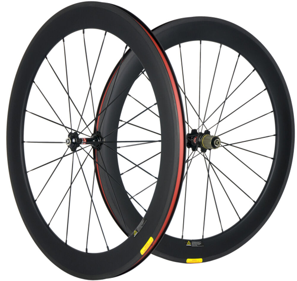 Carbon  Wheels 60mm Clincher Road Bike Carbon Wheelset U Shape 25mm Width Cycle  fast shipping to you