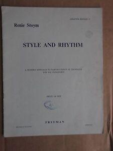 Raisonnable Renie Stoym-style & Rhythm Piano Technique-afficher Le Titre D'origine MatéRiau SéLectionné