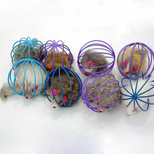 Funny Gift Play Playing Toys False Mouse in Rat Cage Ball For Pet Cat KittenTopA