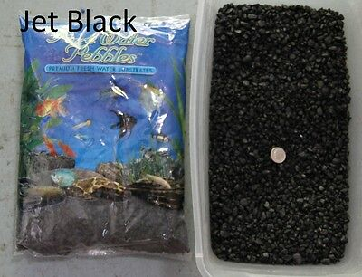 Jet Black - 5 lbs Aquarium Fish Tank Gravel, Pure Water Pebbles color rocks
