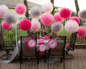 Image Is Loading Tulle Pom Wedding Party Baby Shower Living