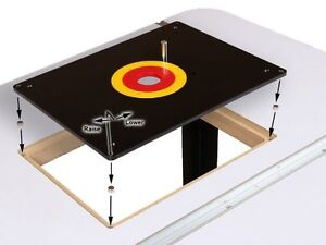 ROUTER-TABLE-INSERT-PLATE-W-GUIDE-PIN-amp-SNAP-RINGS-fits-Porter-Cable-Bushings