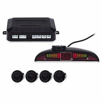 Car Parking Sensor Kit Drive Safe Front Rear Alarm LED Display Main Control Box