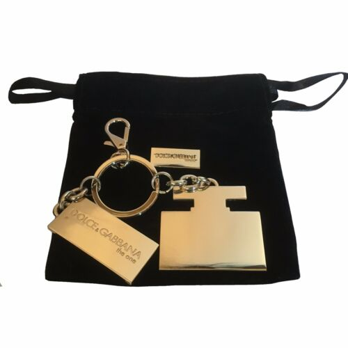 Dog Tag /& Gift Pouch Dolce /& Gabbana The One Gold Key Ring