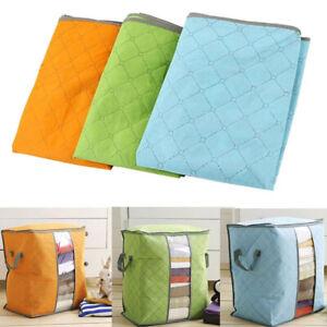 Foldable-Clothes-Blanket-Quilt-Closet-Sweater-Storage-Bag-Organizer-Box-Pouches