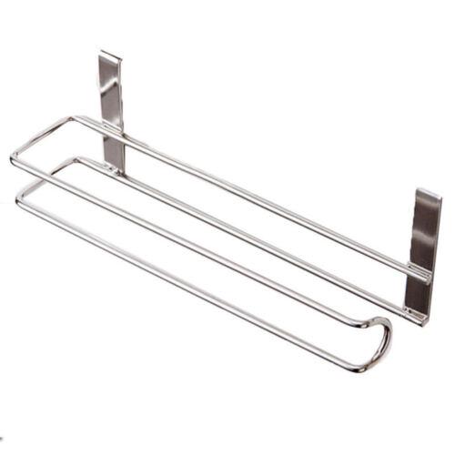 Over Cabinet Door Kitchen Paper Towel Roll Rail Rack Storage Holder Dispenser Ne