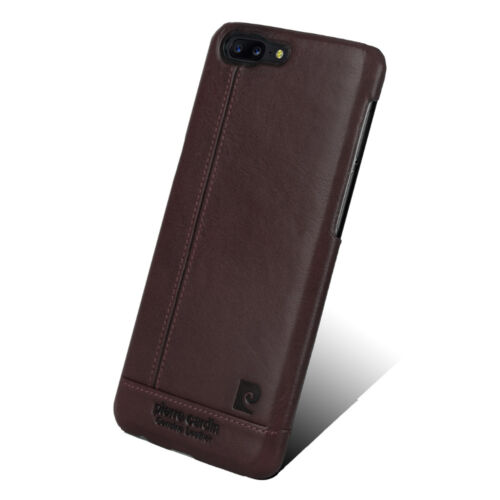 Pierre Cardin Genuine Leather Cover Hard Back Case For One Plus 5 OnePlus5