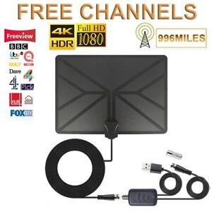 996-Miles-HD-Antenna-TV-Digital-4K-Amplified-Antena-Indoor-HDTV-FM-VHF-UHF-1080P