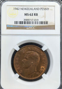 1942-MS62-RB-New-Zealand-Penny-UNC-KM-13-NGC-575-Registry-points