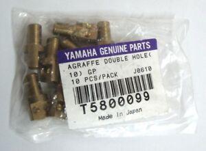Yamaha-Genuine-Parts-Agraffe-Double-Hole-10-Stueck-Klavier-Messing-Ersatzteile