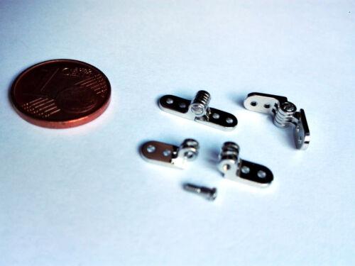 4 Paar  Brillenscharniere Mini-Scharniere Nietscharniere Schraubscharniere 4 mm