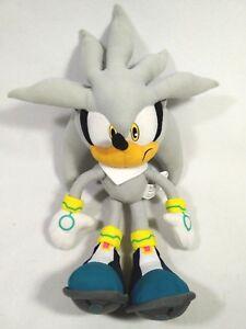 Ge Great Eastern Silver Sonic The Hedgehog Plush Doll Sega Stuffed Toy 13 5 Ebay