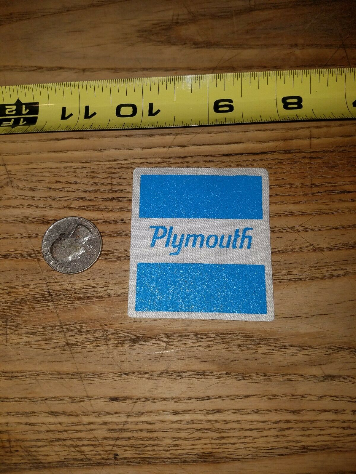 New old stock  PLYMOUTH VALIANT  service uniform patch