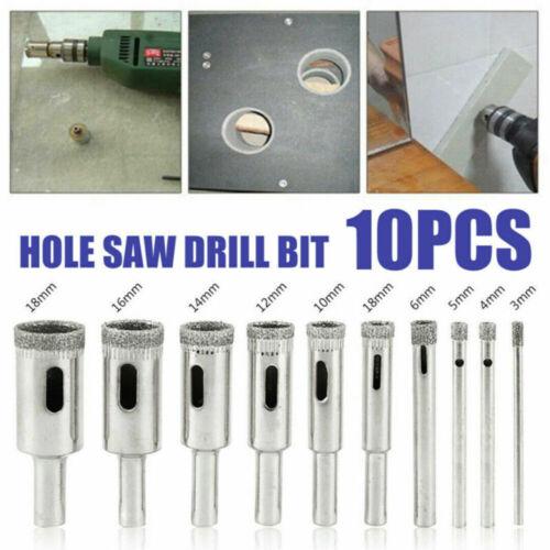 3-18mm Wet Diamond Core Drill Bit Hole Saw Cut Stone Porcelain Tile Glass Marble