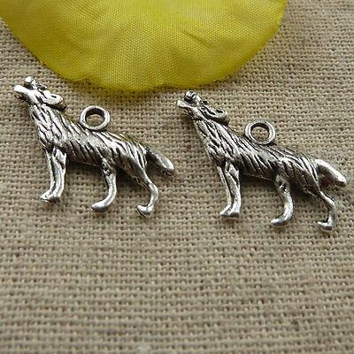 free ship 160 pcs tibetan silver wolf charms 27x16mm #4079
