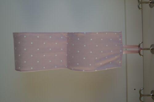 Fabric Toilet Roll Holder powder pink for 2-4 rolls Family bath storage
