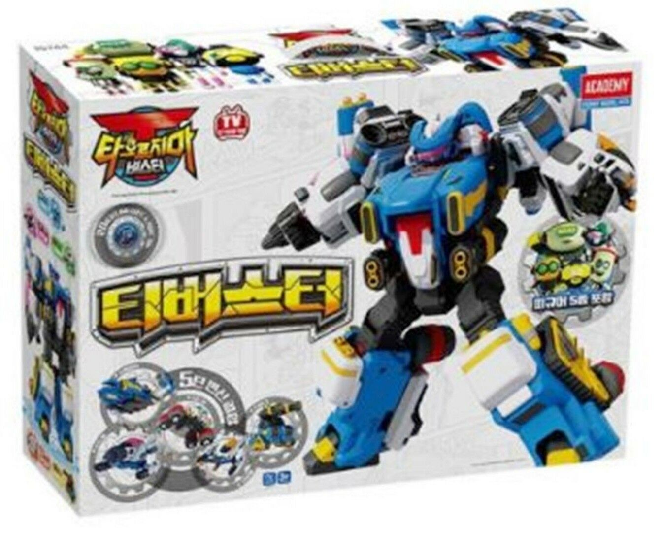 New Academy Taorjima T-BUSTER Copolymer Transforming Robot 5 vehicle Combine Toy