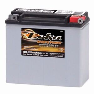Deka ETX20L AGM Battery Harley Davidson U.S.A MADE