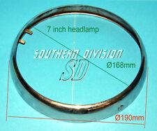 Scheinwerfer Chromring 7 inch von A65 BSA gebraucht aber okay used headlamp rim