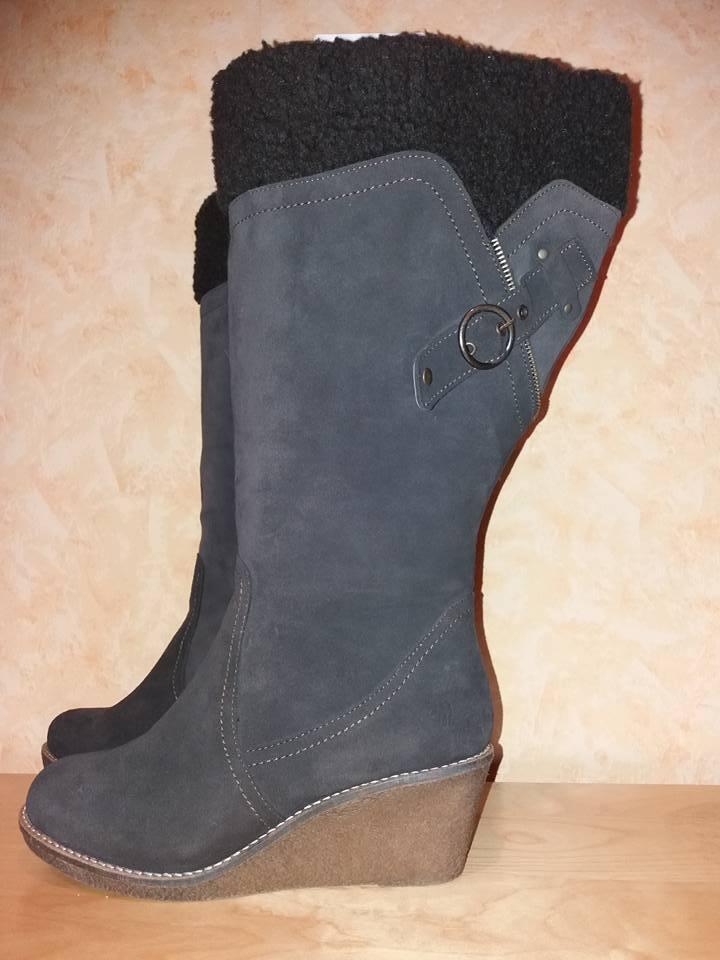 Jjfw botas Mux 5 XW wadenweite nuevo marrón oscuro & cuero nobuck