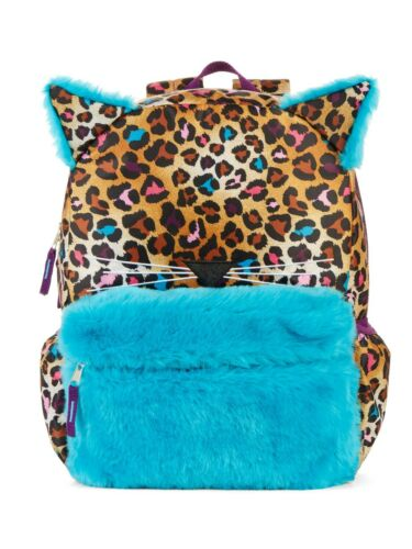 """Meow 16/"""" Plush Backpack School Book Bag Tote Full Size"""