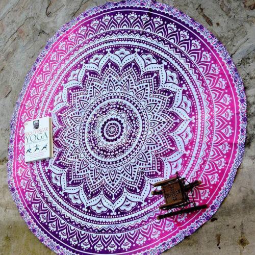 Boho Hippie Mandala Round Indian Tapestry Beach Blanket Throw Picnic Yoga Mat