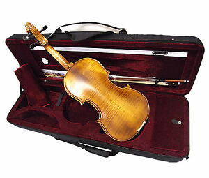 New-Antique-Style-4-4-Hand-Made-Violin-Bow-Rosin-Case-lt-Limited-gt