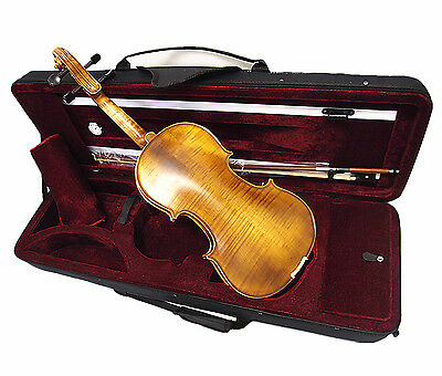 New Antique Style 4/4 Hand-Made Violin +Bow +Rosin +Case <Limited>
