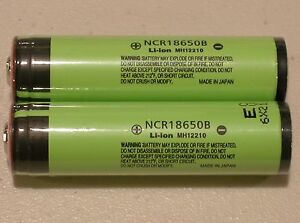 2-PANASONIC-NCR18650B-LI-ION-BATTERY-3400mAh-3-7v-18650-NEW-PROTECTION-PCB-JAPAN