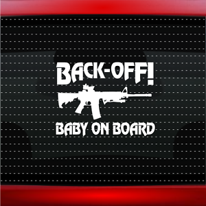 Image is loading Baby-On-Board-3-Gun-Funny-Cute-Family-