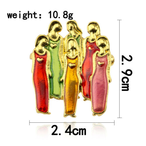 Family Decor Best Friends Sister Pin Brooch Durable Birthday Metal