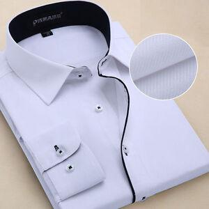 Camisas-Mens-Dress-Shirts-Luxury-Casual-Slim-Fit-Long-Sleeve-Multicolor-OT6301