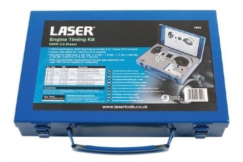 Laser Tools 7502 Engine Camshaft Crankshaft Timing Kit for BMW 3.0 Diesel B57