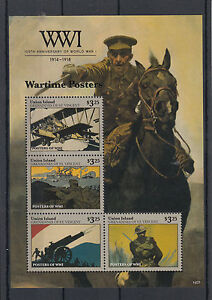 Union Island Grenadines St Vincent 2014 MNH WWI Wartime Posters 4v M/S Stamps