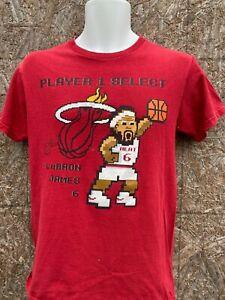 Lecteur 1 Sélectionner Miami Heat Lebron James T Shirt S Jeu Vidéo NBA Majestic