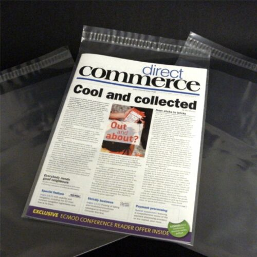 50 12x16 Comic Magazine Bags Sleeves Resealable Protective Dust Cover Reusable