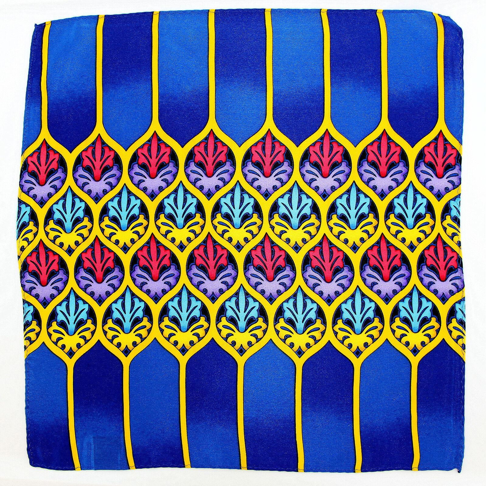 Rush Limbaugh Men's Pocket Square Handkerchief Wedding Dress Silk Blue Hanky