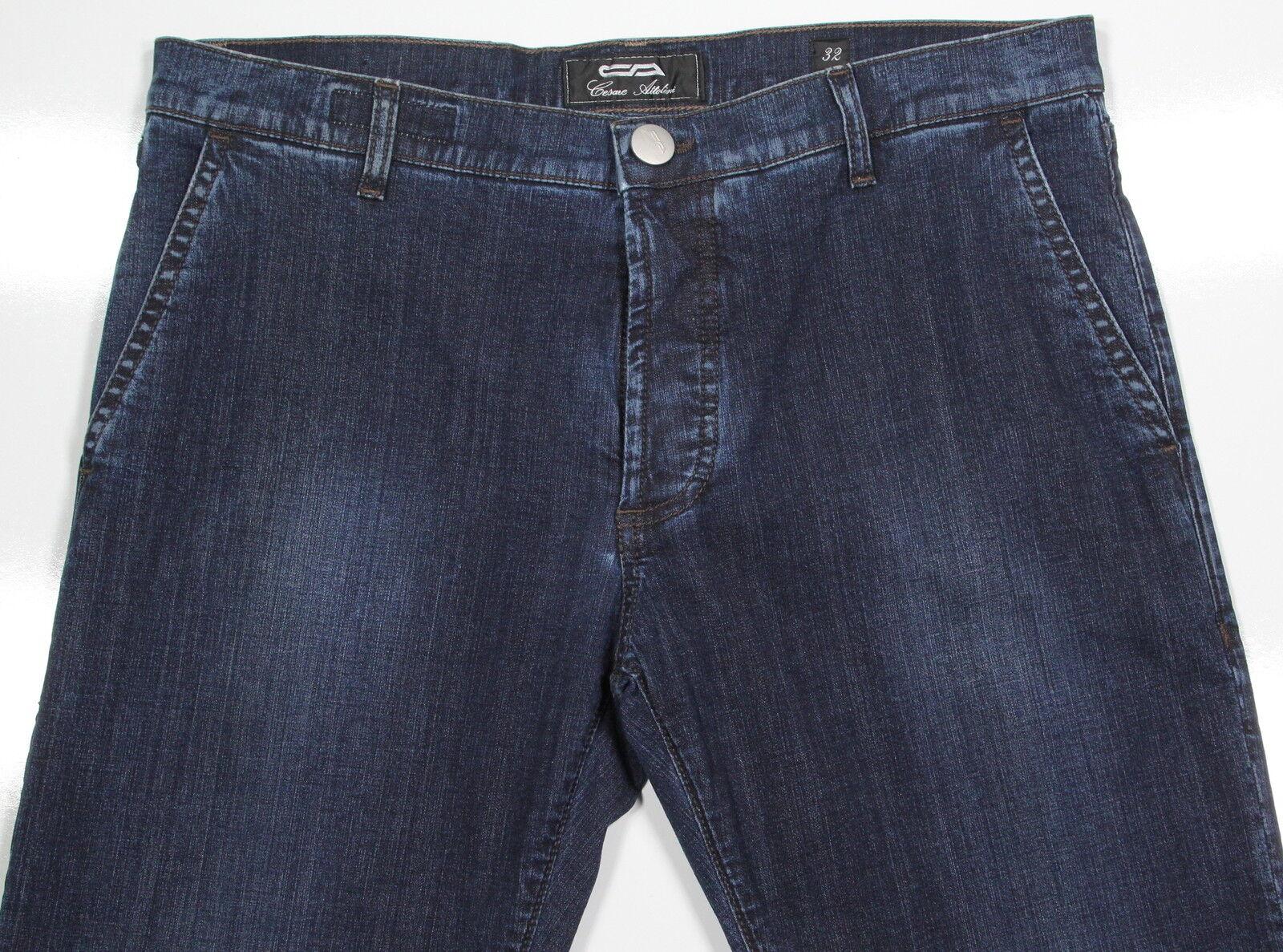 Nwt Nuovi Cesare Cesare Cesare Attolini 2018 Lavaggio Capi Scuri Slim Jeans Stretch 32 x 33 d8a560