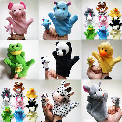 Kids Cute Animal Finger Puppets Plush Cloth Doll Development Baby Hand Toy