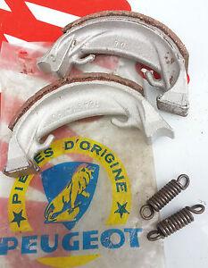 Appris N.o.s Paire De Machoire De Frein Leleu 90 Peugeot Bb3 Rally Motobecane Mobylette