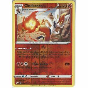 Pokemon CINDERACE 034//202 Sword /& Shield RARE Rev Holo MINT