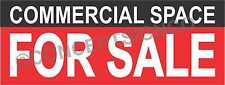 3'X8' COMMERCIAL SPACE FOR SALE BANNER Outdoor Sign LARGE Real Estate Property