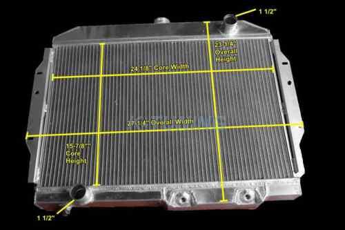 "3 ROW Aluminum Radiator AMC 58-74 AMC Ambassador Matador Base Brougham 24/""W Core"