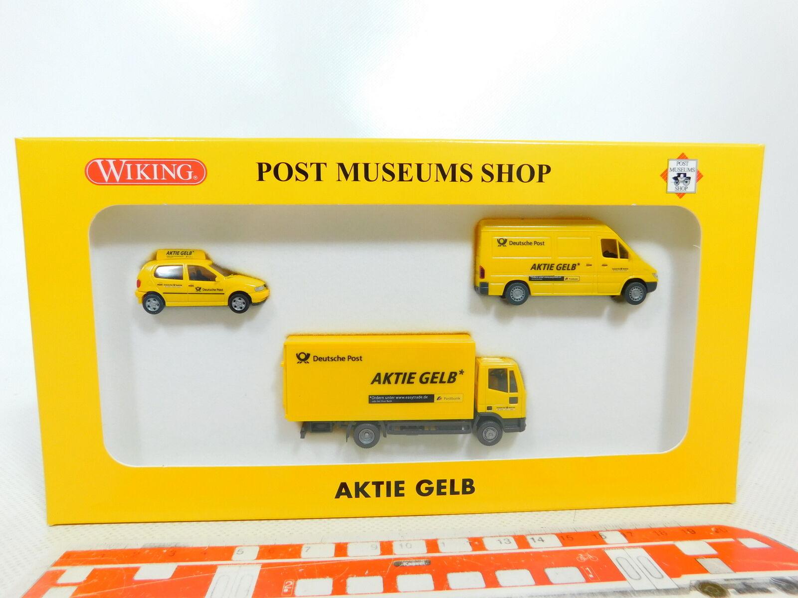 BX272-0,5Wiking PMS 1 87 H0 81-11 Set Aktie yellow  VW + MB + Iveco, NEUW+OVP