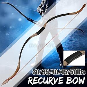 US 35-50lbs Recurve Bow Traditional Archery Hunting Handmade Mongolian Longbow