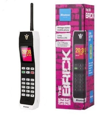 Binatone Retro Sim Free Big Brick Button Mobile Phone